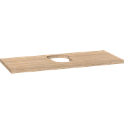 Medium countertop for washbasins centre cut-out 3x100x42 cm