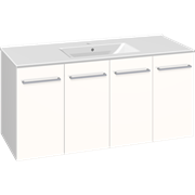 Furniture pack with doors and Simone porcelain washbasin, 120 cm