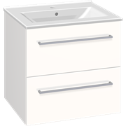 Furniture set with drawers and Simone washbasin, 60 cm