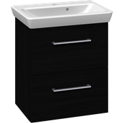 Furniture pack with drawers and Lotto washbasin, 55 cm