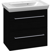 Furniture pack with drawers and Lotto washbasin, 65 cm