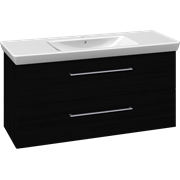 Furniture pack with drawers and Lotto XL washbasin, 125 cm