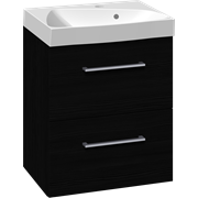 Furniture pack with 2 drawers and Ludo washbasin, 50 cm