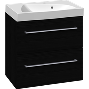 Furniture pack with 2 drawers and Ludo washbasin, 60 cm