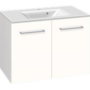 Furniture pack with 2 doors and Mikado washbasin, 80 cm