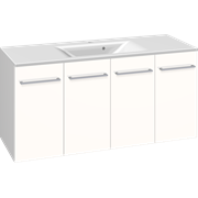 Furniture pack with 2 doors and Mikado washbasin, 120 cm