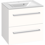 Furniture pack with 2 drawers and Mikado washbasin, 60 cm