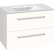 Furniture pack with 2 drawers and Mikado washbasin, 80 cm
