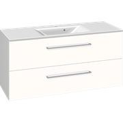 Furniture pack with 2 drawers and Mikado washbasin, 120 cm
