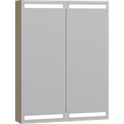 Level mirror cabinet 60 cm with lighting at top and bottom