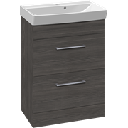 Furniture pack with 2 drawers and Cappella washbasin, 62 cm