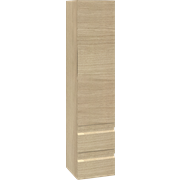 Tall unit with 2 drawers and right hinged door, 160x35x35 cm
