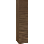 Tall unit with 2 drawers and left-hinged door, 160x35x36 cm