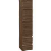 Tall unit with 2 drawers and right-hinged door, 160x35x36 cm