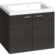 Furniture pack with 2 doors, and Aura washbasin, 60 cm