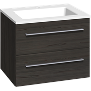 Furniture pack with 2 drawers and Facet washbasin, 60 cm