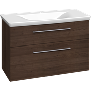 Furniture pack with 2 drawers and Azure washbasin, 100 cm