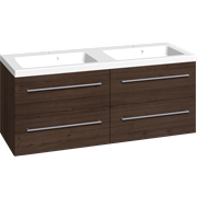 Furniture pack with 4 drawers and Aura twin washbasin, 120 cm