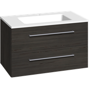 Furniture pack with 2 drawers and Facet washbasin, 80 cm