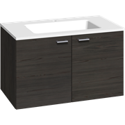 Furniture pack with 2 doors and Facet washbasin, 80 cm