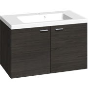 Furniture pack with 2 doors, and Aura washbasin, 80 cm