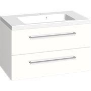 Furniture pack with 2 drawers and Aura washbasin, 80 cm