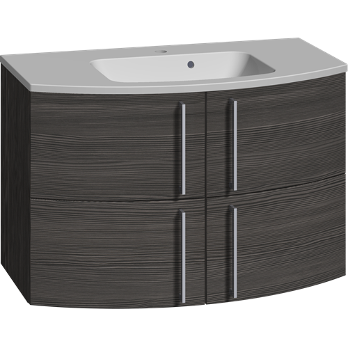Furniture pack with 4 drawers and Limbo washbasin, 90 cm