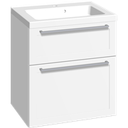 Furniture pack with 2 drawers and Aura washbasin, 60 cm