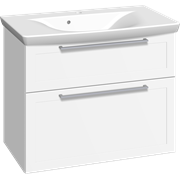 Furniture pack with 2 drawers and Azure washbasin, 80 cm
