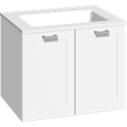 Furniture pack with 2 doors and Facet washbasin, 60 cm