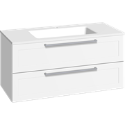 Furniture pack with 2 drawers and Facet washbasin, 100 cm
