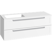 Furniture pack with 2 drawers and Facet washbasin, 120 cm