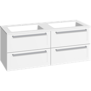 Furniture pack with 4 drawers and Facet washbasin, 120 cm