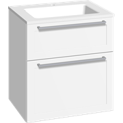 Furniture pack with drawers and Facet washbasin, 60 cm