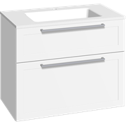 Furniture pack with drawers and Facet washbasin, 80 cm