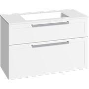Furniture pack with drawers and Facet washbasin, 100 cm