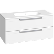 Furniture pack with 2 drawers and Karat washbasin, 100 cm