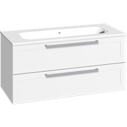 Furniture pack with 2 drawers and double Karat washbasin, 100 cm