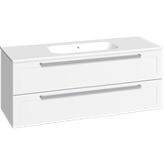 Furniture pack with 2 drawers and Karat washbasin, 120 cm