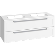 Furniture pack with 2 drawers and double Karat washbasin, 120 cm