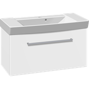Furniture set with flip door and Cappella washbasin, 82 cm