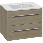 Furniture pack with drawers and Micca solid surface washbasin, 60 cm
