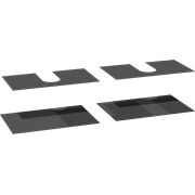 Set of 4 rubber mats for drawers, 48x120x42 cm
