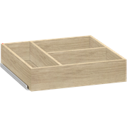 Cupboard tray with runners, 30x6,7x30 cm
