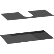 Set of 2 rubber mats for drawers, 48x60x33 cm