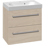 Furniture set with 2 drawers and Uno washbasin, 60 cm