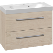 Furniture set with 2 drawers and Uno washbasin, 80 cm