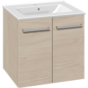 Furniture pack with doors and Simone porcelain washbasin, 60 cm