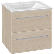 Furniture pack with drawers and Simone porcelain washbasin, 60 cm