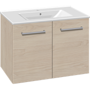 Furniture pack with doors and Simone porcelain washbasin, 80 cm